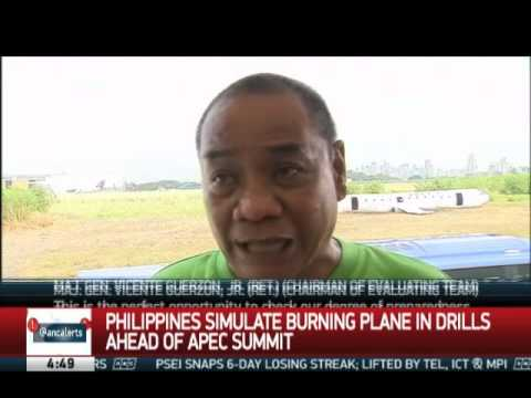 PH security simulate plane crash rescue ahead of APEC