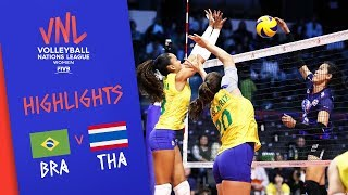 BRAZIL vs. THAILAND - Highlights Women | Week 4 | Volleyball Nations League 2019