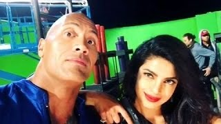 BAYWATCH Set Video with Dwayne Johnson and Sexy Villainess Priyanka Chopra 2016 HD