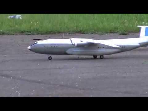 модель самолета Ан-22 - третий полет