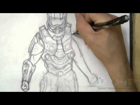 How to Draw Master Chief (Halo 4)