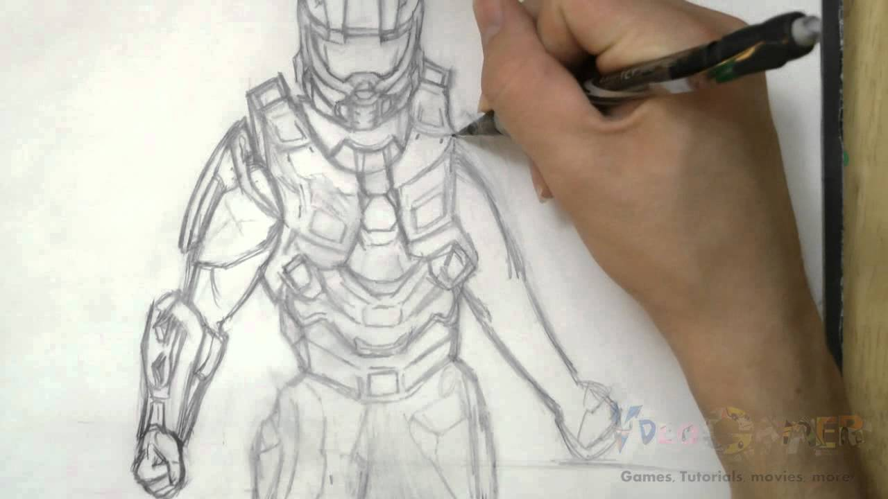 Halo Characters Drawings How to Draw Master Chief Halo