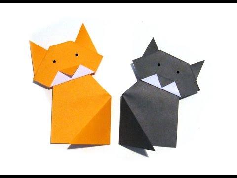 Adorable Origami Cat Easy Tutorial   YouTube