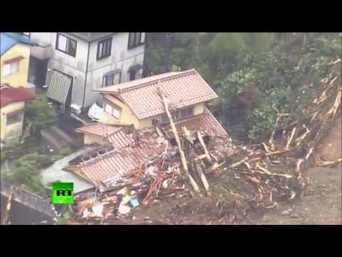 At least 18 people have been killed and 13 others remain missing after landslides caused by torrential rain hit the Japanese city of Hiroshima on Wednesday morning. Authorities warn that more rain can trigger further landslides and flooding. READ MORE http://on.rt.com/jw360n  RT LIVE http://rt.com/on-air  Subscribe to RT! http://www.youtube.com/subscription_center?add_user=RussiaToday  Like us on Facebook http://www.facebook.com/RTnews Follow us on Twitter http://twitter.com/RT_com Follow us on Instagram http://instagram.com/rt Follow us on Google+ http://plus.google.com/+RT  RT (Russia Today) is a global news network broadcasting from Moscow and Washington studios. RT is the first news channel to break the 1 billion YouTube views benchmark.