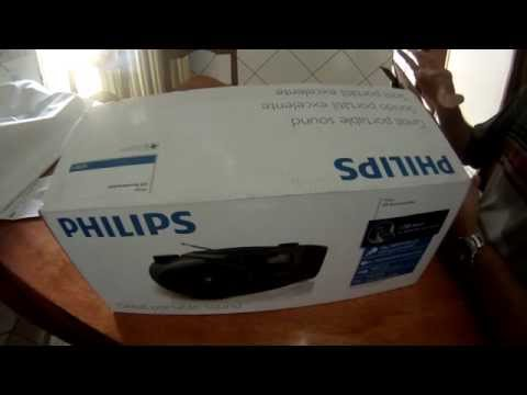 Som Portátil Philips CD Soundmachine AZ3811 - Umboxing