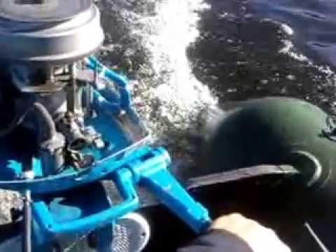 два мотора нептун на лодке
