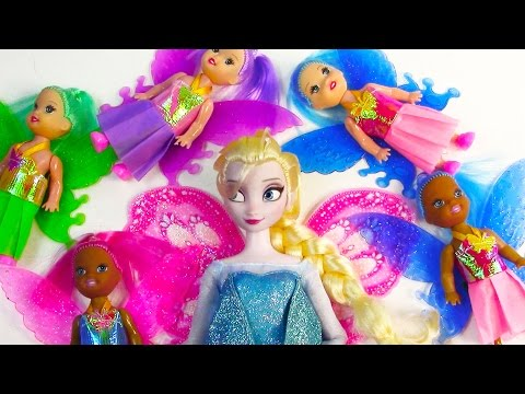 Colorful $1 Fairy Barbie Dollar Tree Dolls Frozen Queen Elsa Toy Review