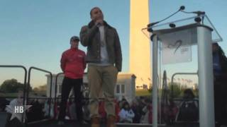 Chris Brown sings The National Anthem