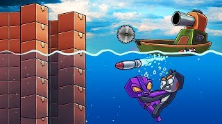 Minecraft | UNDERWATER BOX FORT CHALLENGE! (Indestructible Box Fort)