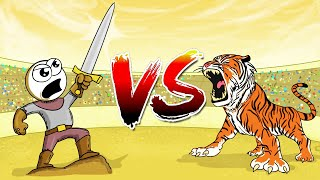 Tiger Vs Human With Sword - Who Do You Think Wins?