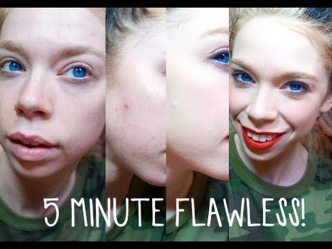 5 MINUTE FLAWLESS MAKEUP FOR ACNE PRONE SKIN