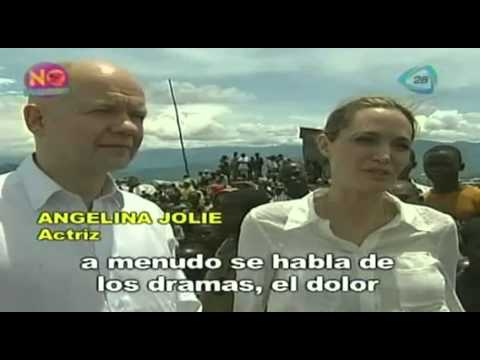 Angelina Jolie viajó con el secretario de relaciones exteriores William Hague al Congo