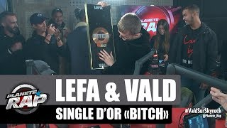 "Lefa remet le single d'or à Vald pour ""Bitch"" #PlanèteRap"