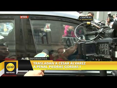 Traslado de César Álvarez al Penal de Piedras Gordas