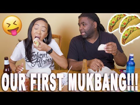 OUR FIRST MUKBANG (ASMR) | TACOS TACOS + MORE TACOS!! ♡ Fayy Lenee Beauty