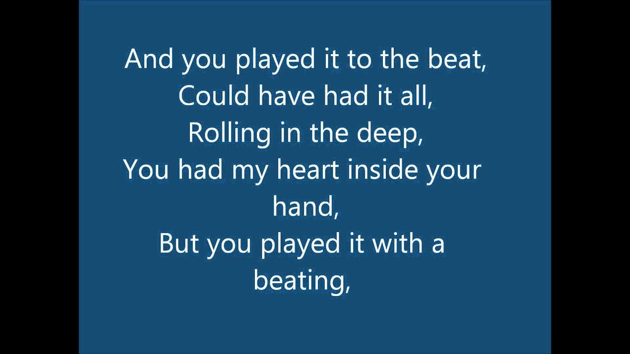 Adele - Rolling In The Deep Lyrics & Download - YouTube Rolling In The Deep Lyrics