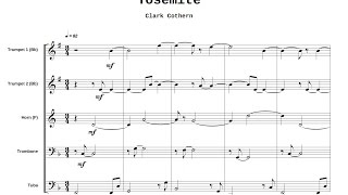 Yosemite - for Brass Quintet - by Clark Cothern (1957 -  ) [BMI]