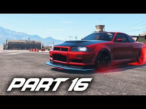 Need For Speed Payback Gameplay Walkthrough Part 16 - SKYLINE R34 & NOISE BOMB FINAL DRIFT