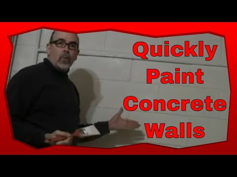 how to paint a cinder block wall with step by step. Black Bedroom Furniture Sets. Home Design Ideas
