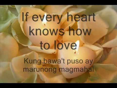 Isang Mundo Isang Awit By Leah Navarro With Lyrics And Translation video