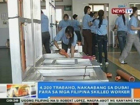 NTG: 4,200 trabaho, nakaabang sa Dubai para sa mga Filipina skilled worker
