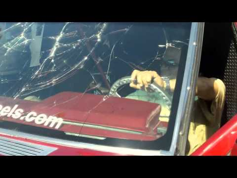 Breaking A Windshield w/ LOUD BASS SBN 2011 - Pipo Sanchez Shatters Glass Window w/ Car Audio FLEX