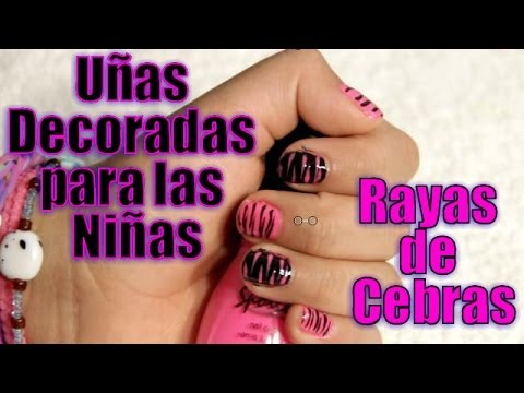 u as decoradas para las ni as rayas de cebras youtube. Black Bedroom Furniture Sets. Home Design Ideas