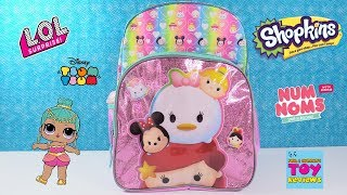 Disney Tsum Tsum Surprise Backpack LOL Doll Mashems Toy Review | PSToyReviews