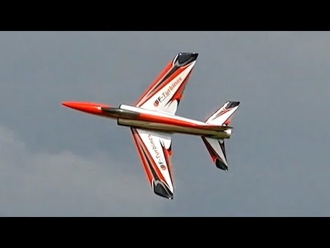 SHOCKWAVE RC TURBINE SPORT JET MODEL DEMO FLIGHT FULL DISPLAY / Jetpower Messe 2015