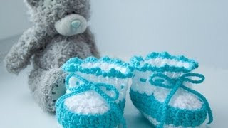how to crochet baby booties  for beginner
