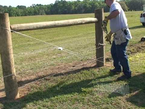 Barbed wire installation youtube - Build wire fence foundation ...