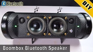 How To Make Boombox Bluetooth Speaker From Pipe Plastic
