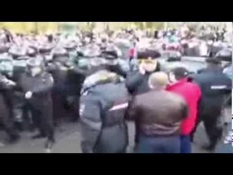 Погром в Бирюлево Беспорядки. Москва. Октябрь. 2013