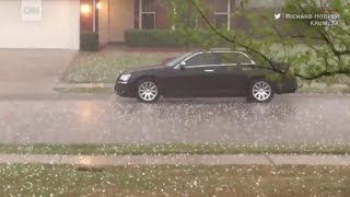 'Golf ball-sized' hail hits parts of the US