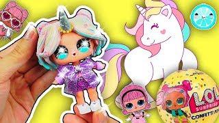 UNICORN LOL SURPRISE CONFETTI POP Series 3 Wave 2 Custom Toy DIY | Theater Club Doll