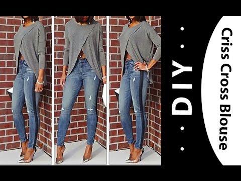 DIY: Criss Cross blouse  (fall favorites)