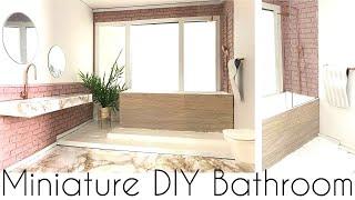 DIY: miniature dollhouse bathroom