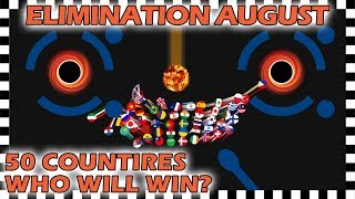 Marble Race Elimination - Top 50 Countries By Watch Time For August 2019 - Algodoo