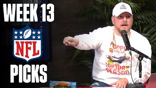 Pat McAfee's Week 13 NFL Picks