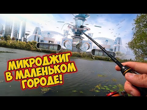 Вовка, ты обещал больших окуней! 😈 Рыбалка на микроджиг в маленьком городе! Ультралайт  осенью