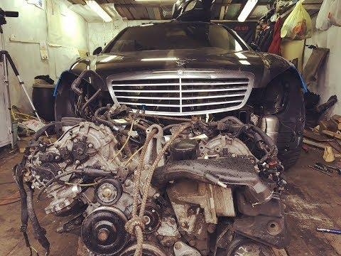 Когда разобрали двигатель и офигели. W221 5.5 за 265.000 рублей. Эпизод 4.
