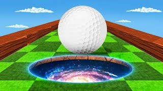 GOLF PORTALS TO A SECRET MAP! (Golf It Funny Moments)