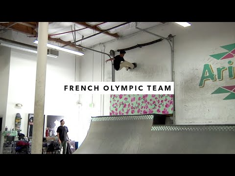 Vincent Milou and the French Olympic Team