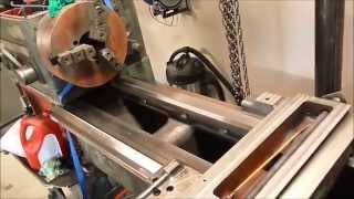 Lathe restoration project part 16 -Making the feet and leveling-