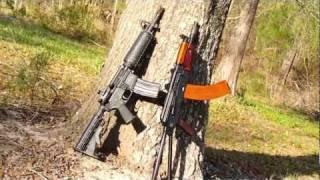 AKS-74u and M4 Commando