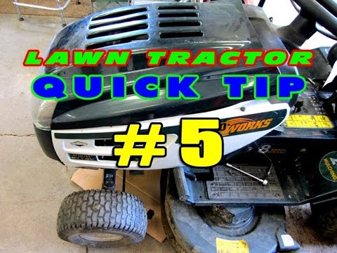 Lawn Tractor Quick Tip #5 - Unsafe Parts