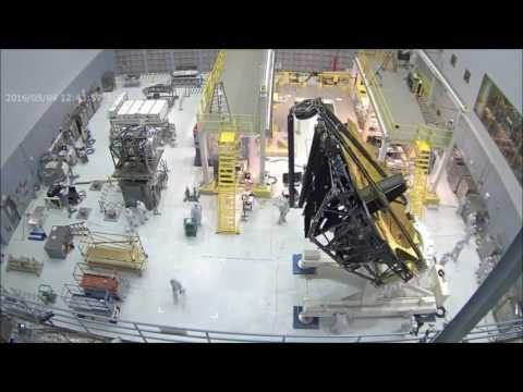 Time-lapse: Webbcam View of James Webb Space Telescope Mirror Rollover