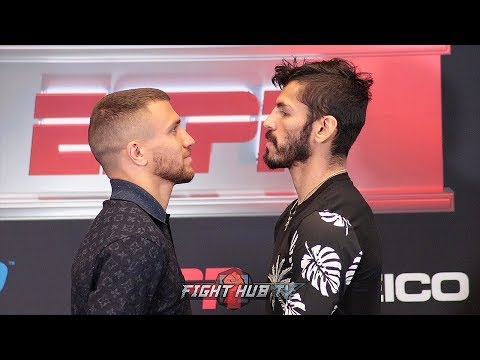 VASYL LOMACHENKO AND JORGE LINARES FINALLY FACE OFF IN INTENSE FINAL FACEOFF!