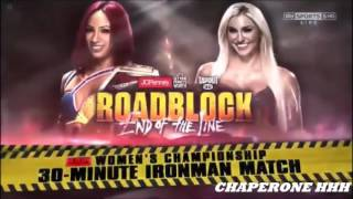 WWE Road Block 2016 Match Card Sasha Banks Vs Charlotte