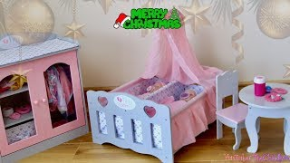 Baby Doll Wardrobe and Twin Cot Unboxing Set Up and Baby Annabell Baby born Care Routine